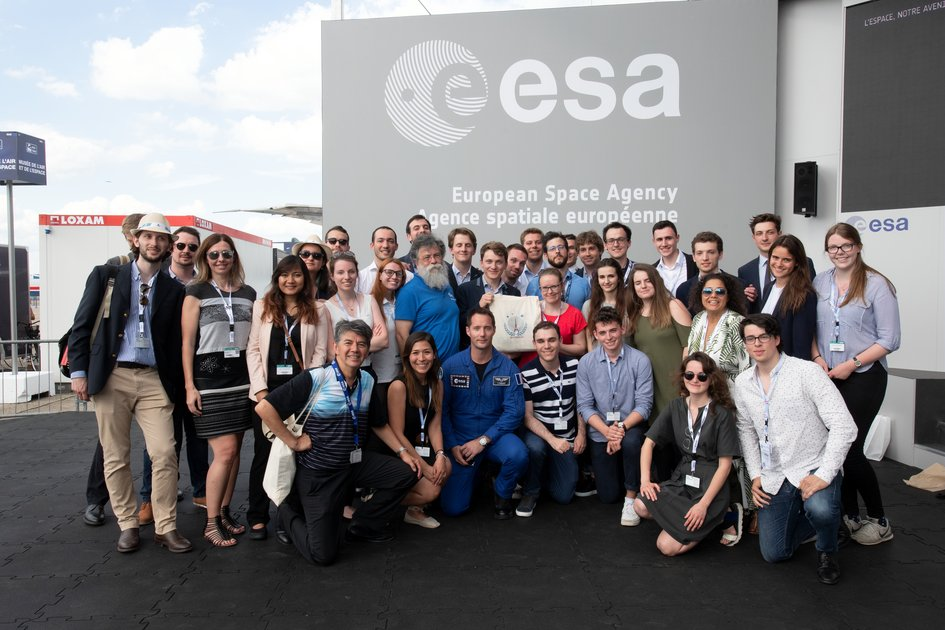 Group photo with ESA astronaut Thomas Pesquet
