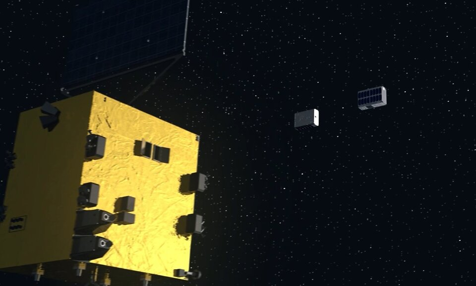 Hera deploying CubeSats