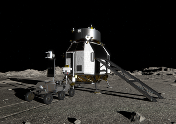 Heracles rover returning with lunar samples
