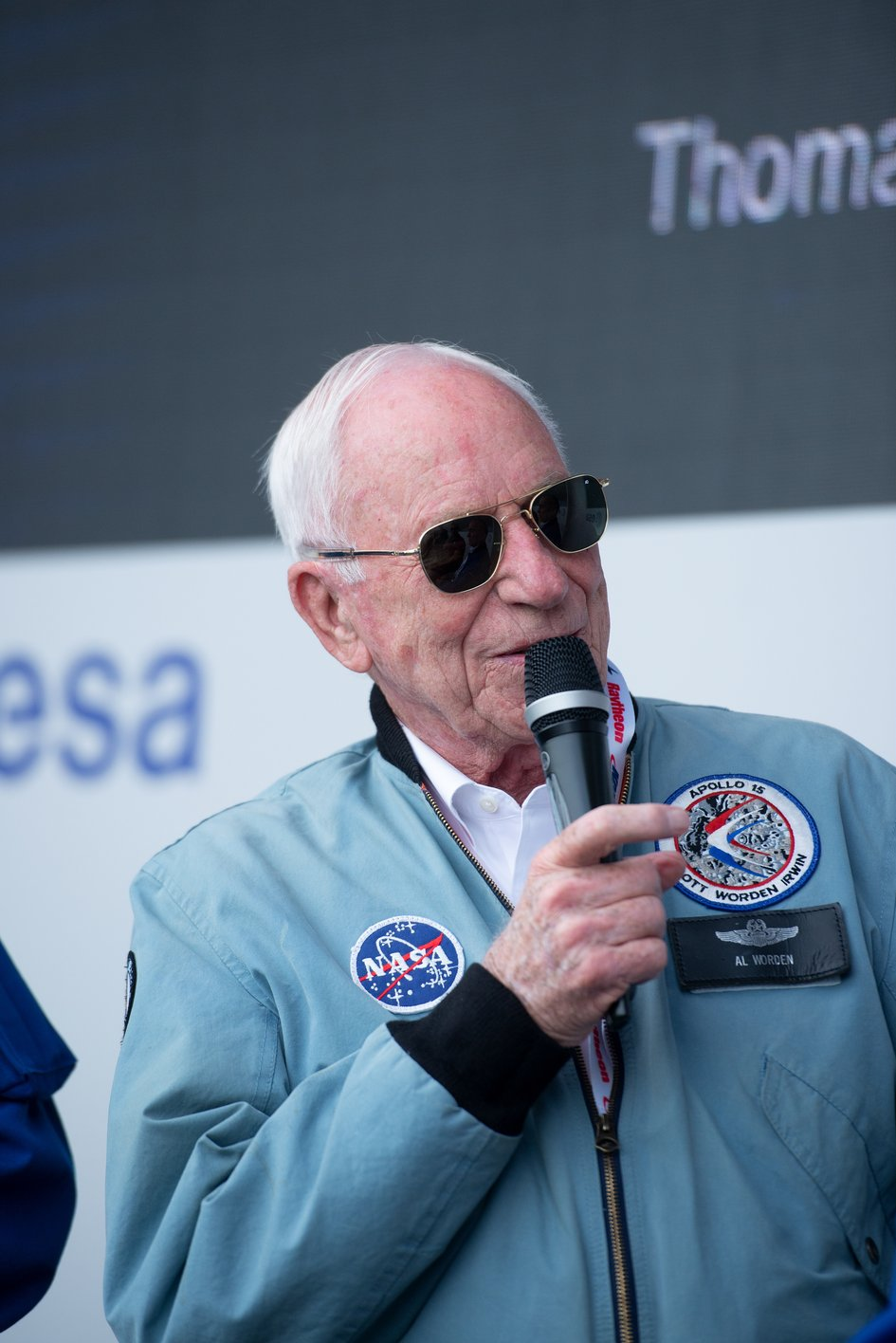 NASA Apollo astronaut Al Worden at Le Bourget