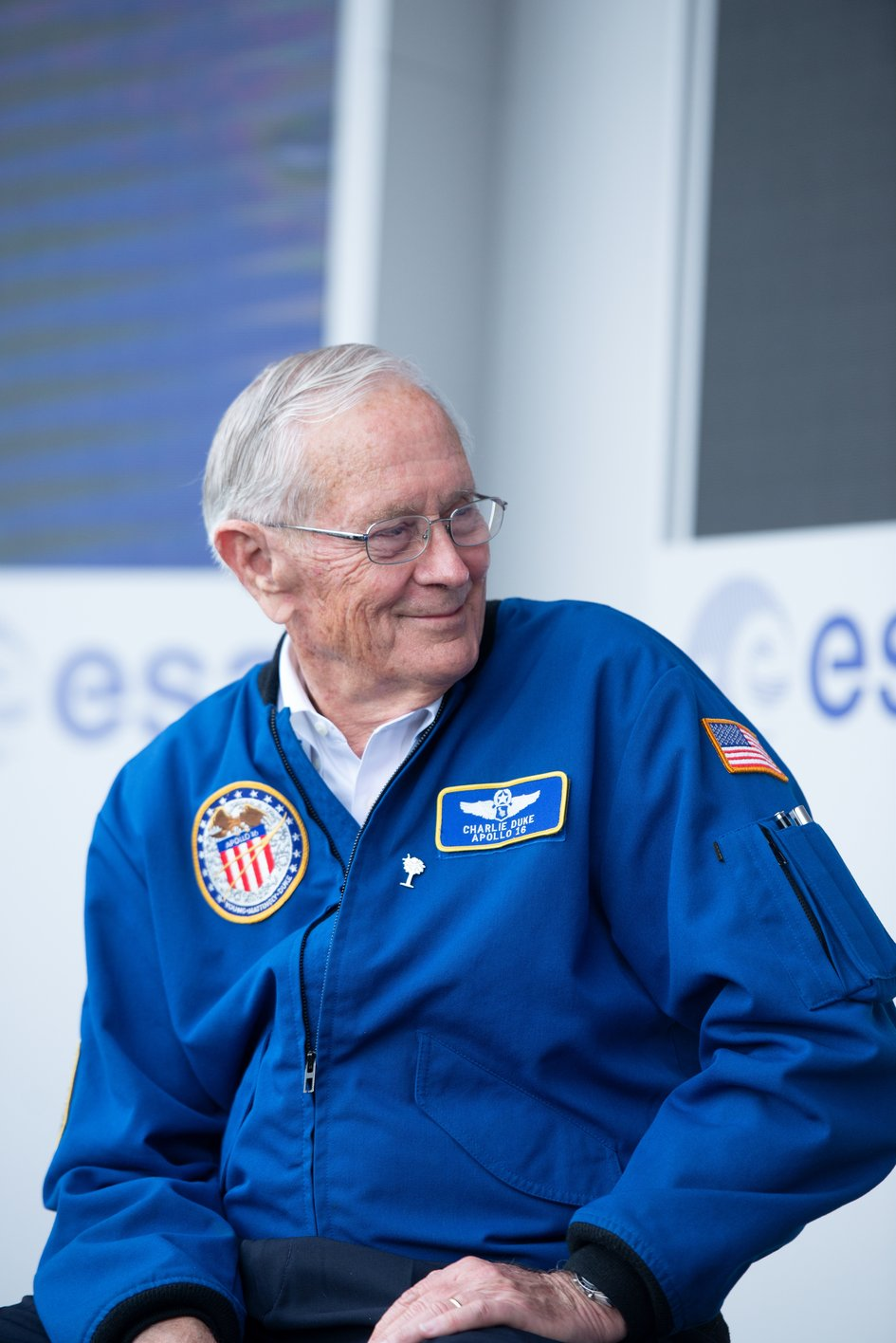 NASA Apollo astronaut Charlie Duke at Le Bourget
