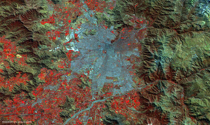 Santiago, Chile, viewed by Proba-V