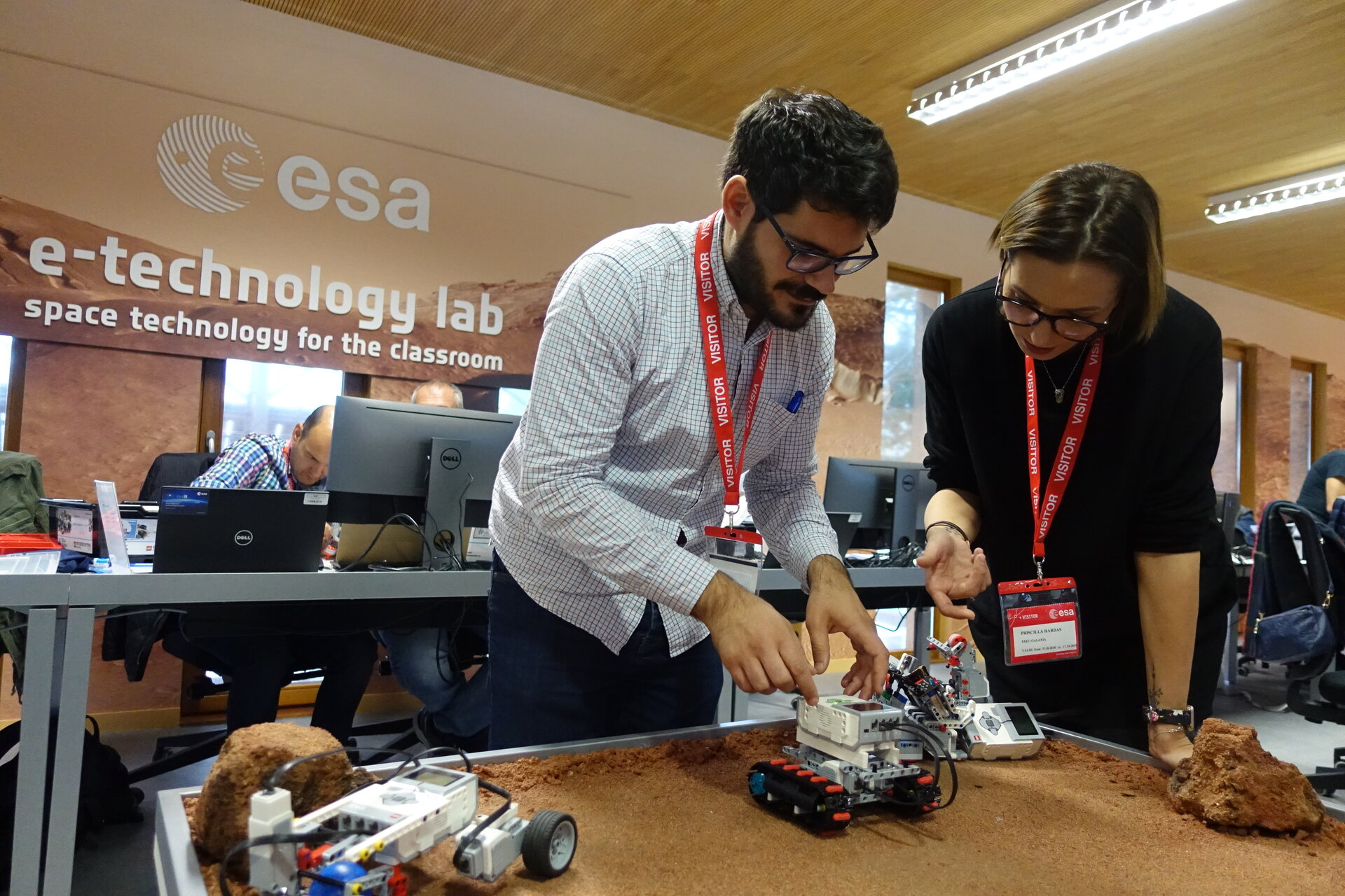 Secondary teachers build a rover to explore Mars using LEGO