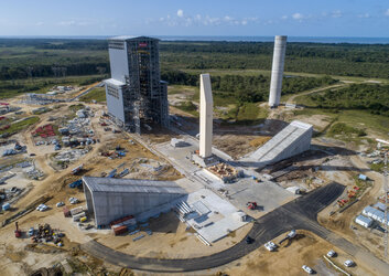 Ariane 6 mobile gantry first rollout