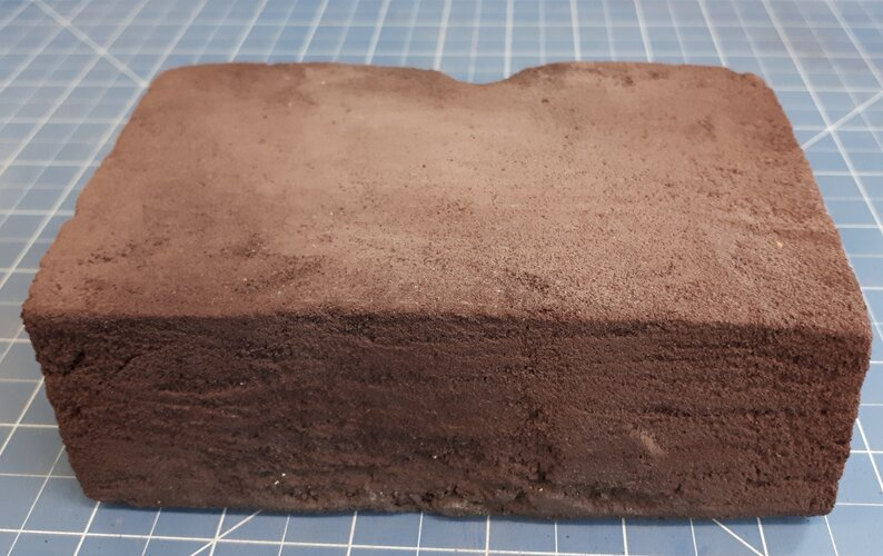 Artificial regolith brick