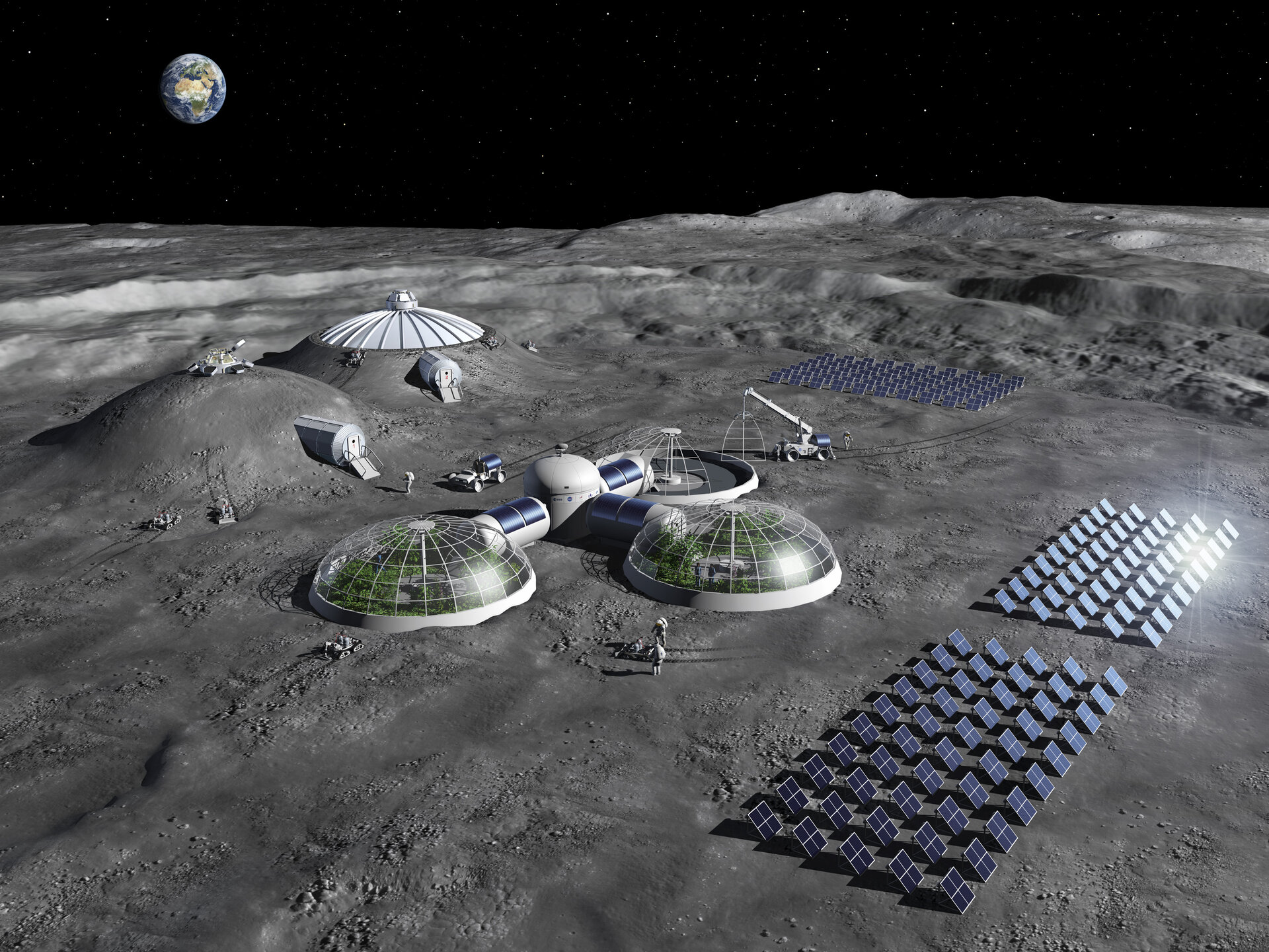 Artist's impression of a moon base.