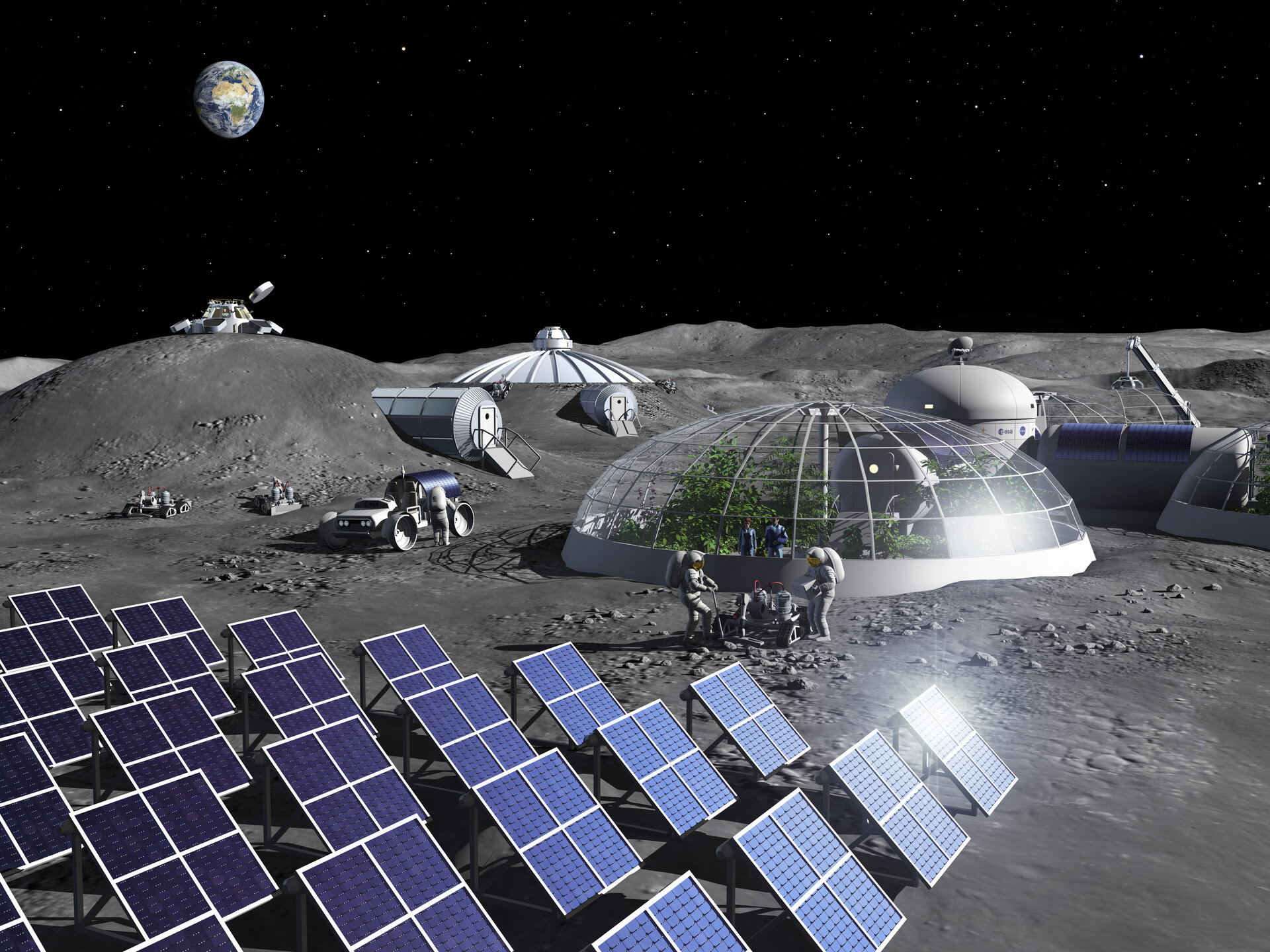 Měsíc, kolonie