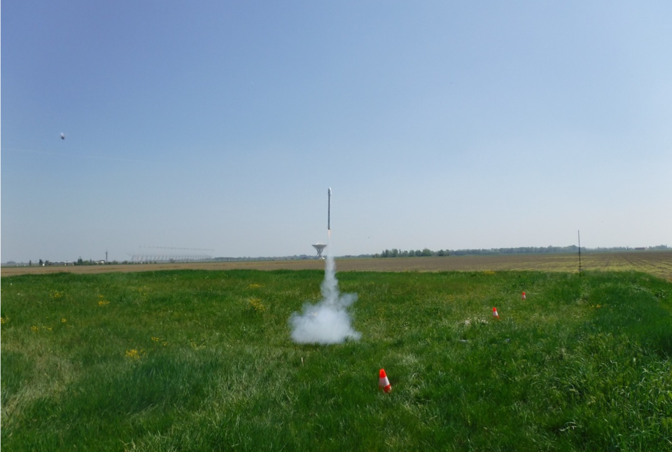 CanSat rocket being launched