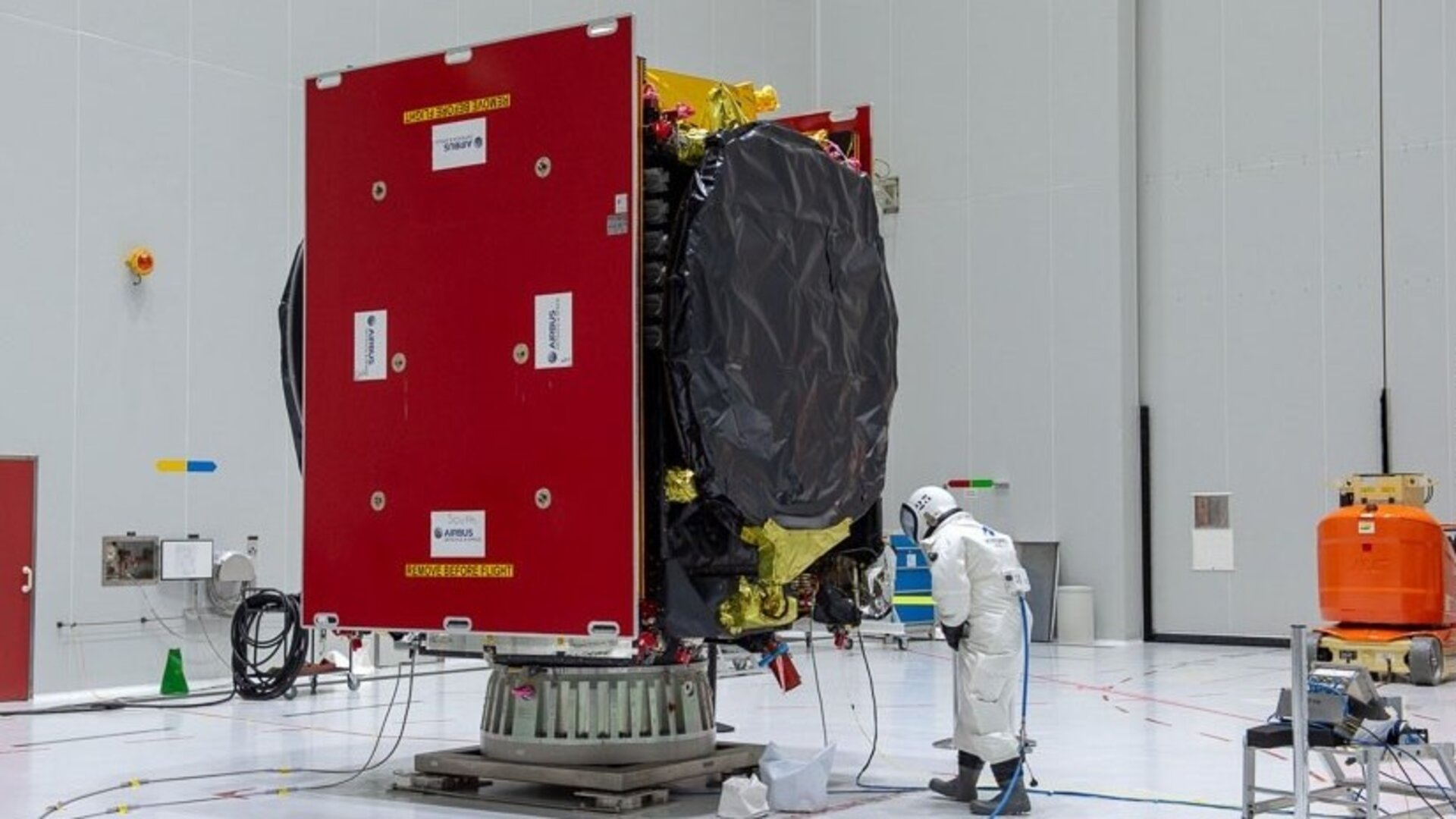 The EDRS-C satellite has been fuelled ahead of its launch