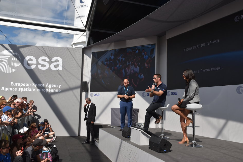 ESA french astronaut Thomas Pesquet and Zinel Elomri, ESA