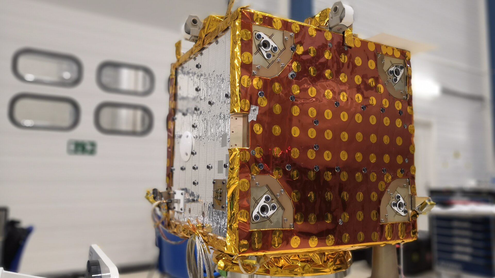 The microsatellite has completed its environmental tests at Centre Spatial de Liège