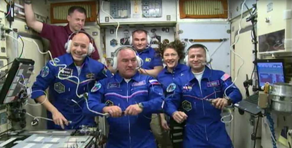 Crew of Expedition 60 on the International Space Station