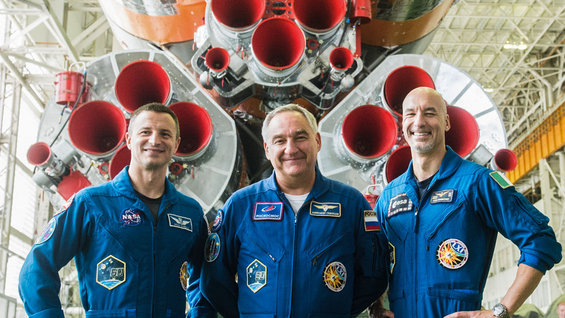 Expedition 60 with their Soyuz