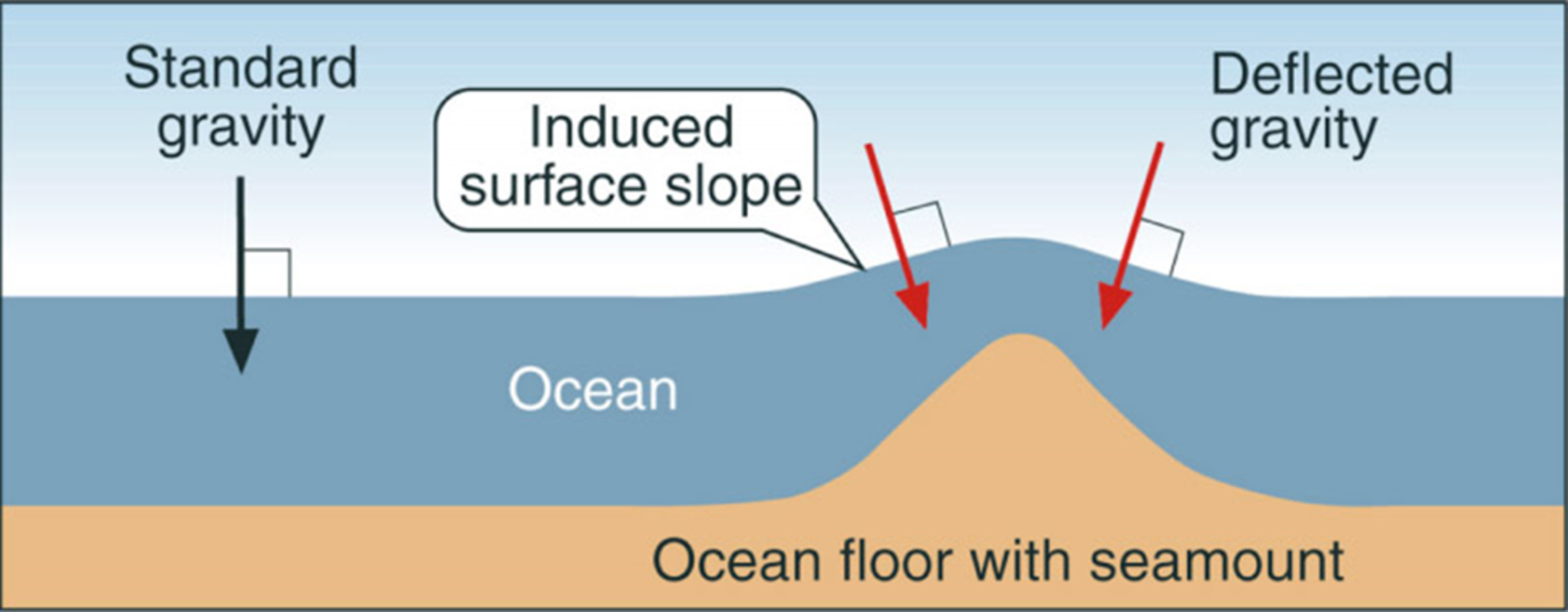 How gravity and sea level interact