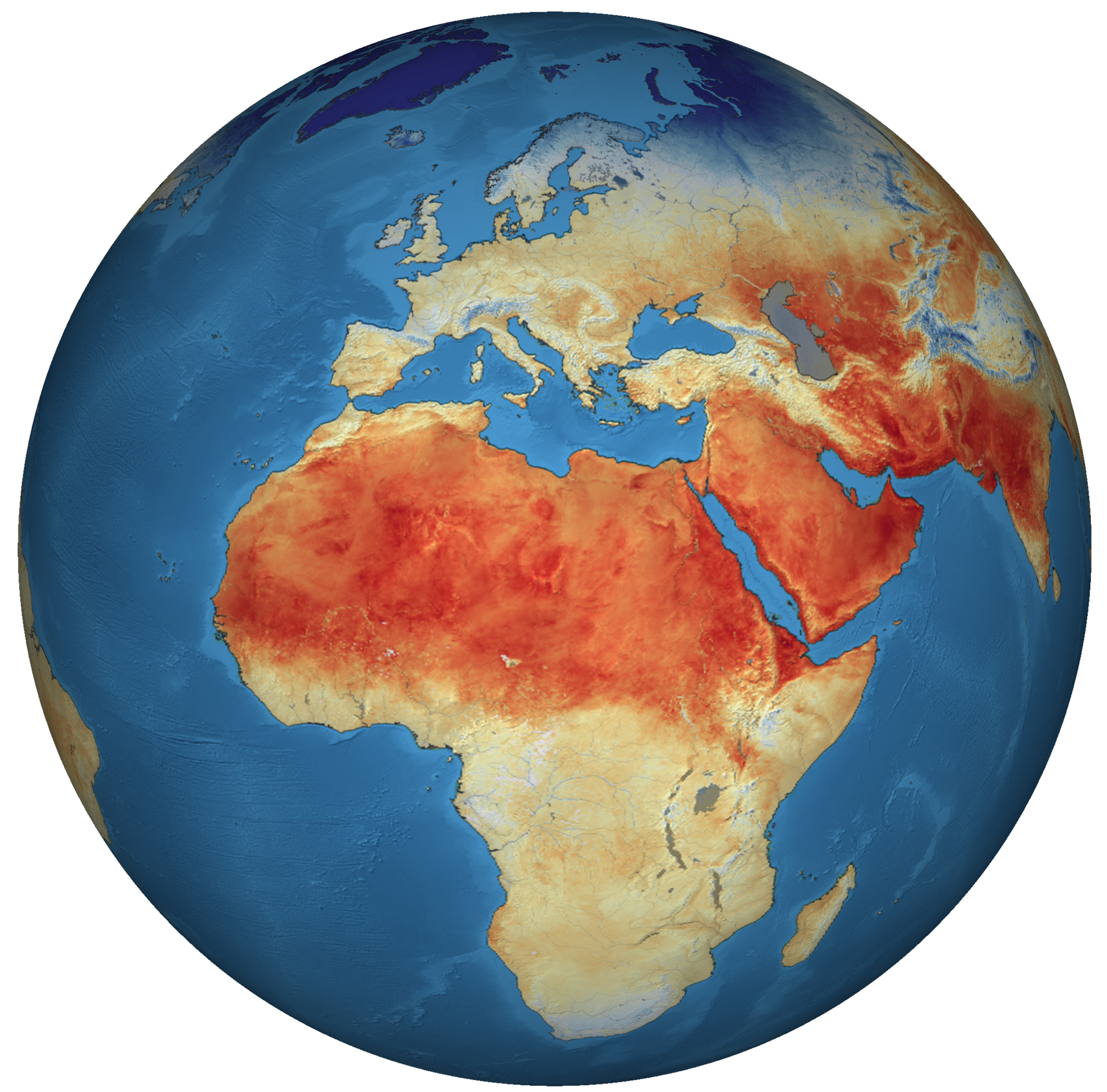 Land-surface temperature from Copernicus Sentinel-3