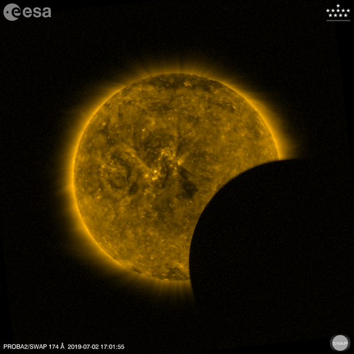 Partial eclipse from space