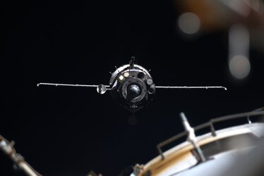 Soyuz MS-13 spacecraft arriving to the International Space Station