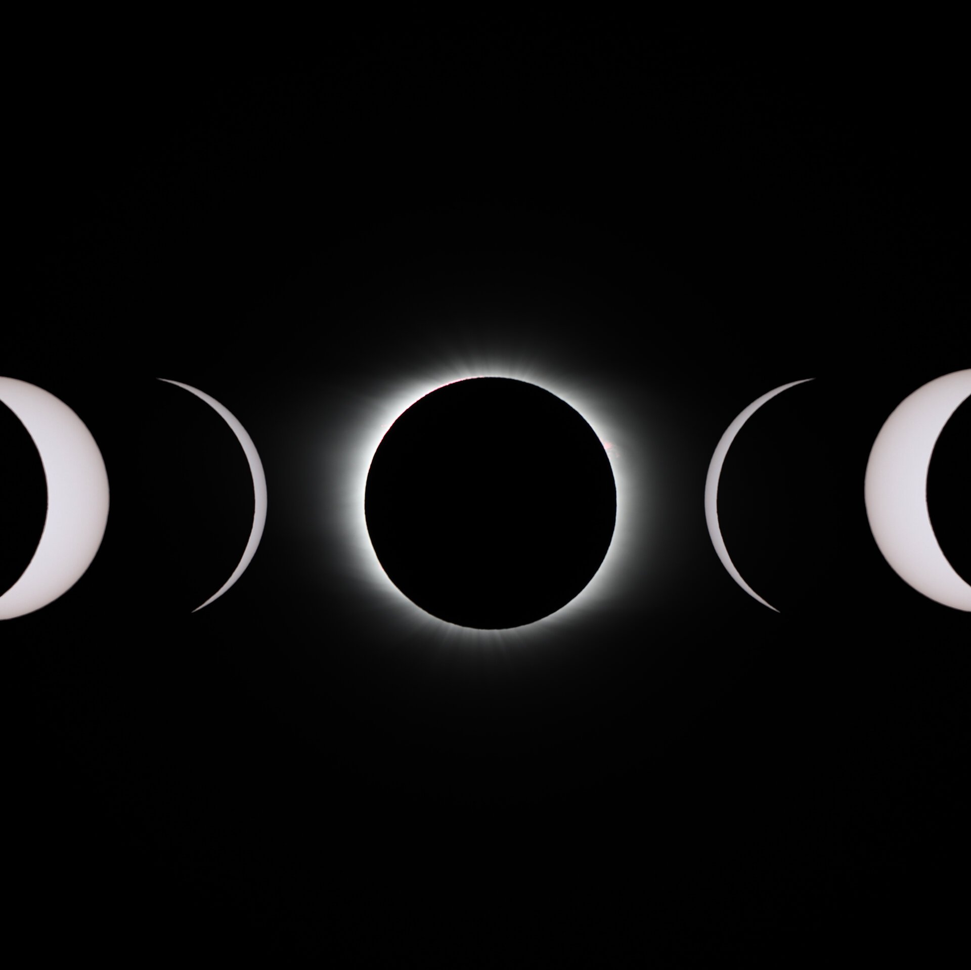 Stages of a total solar eclipse