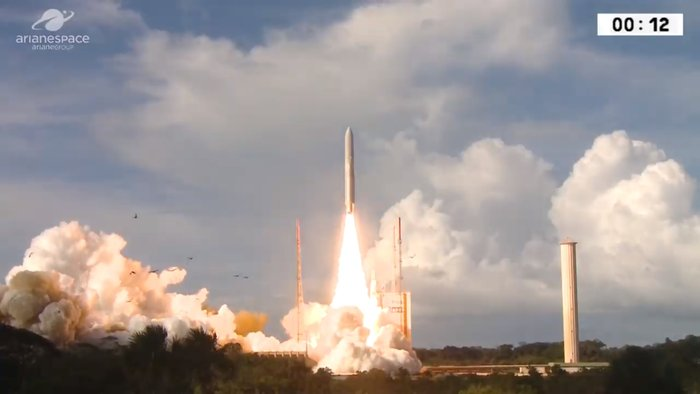 EDRS-C aboard Ariane 5 shortly after launch
