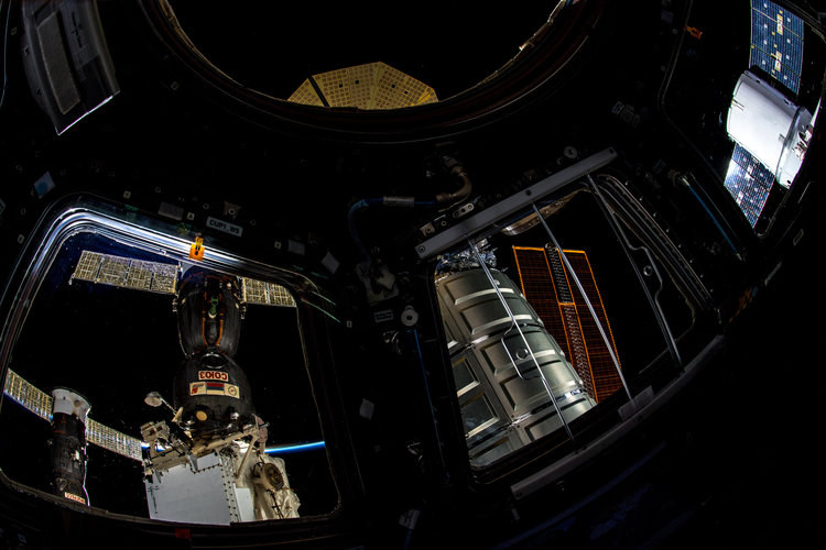 Four spacecraft docked to Space Station