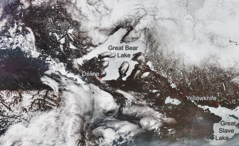 Great Bear Lake and Great Slave Lake