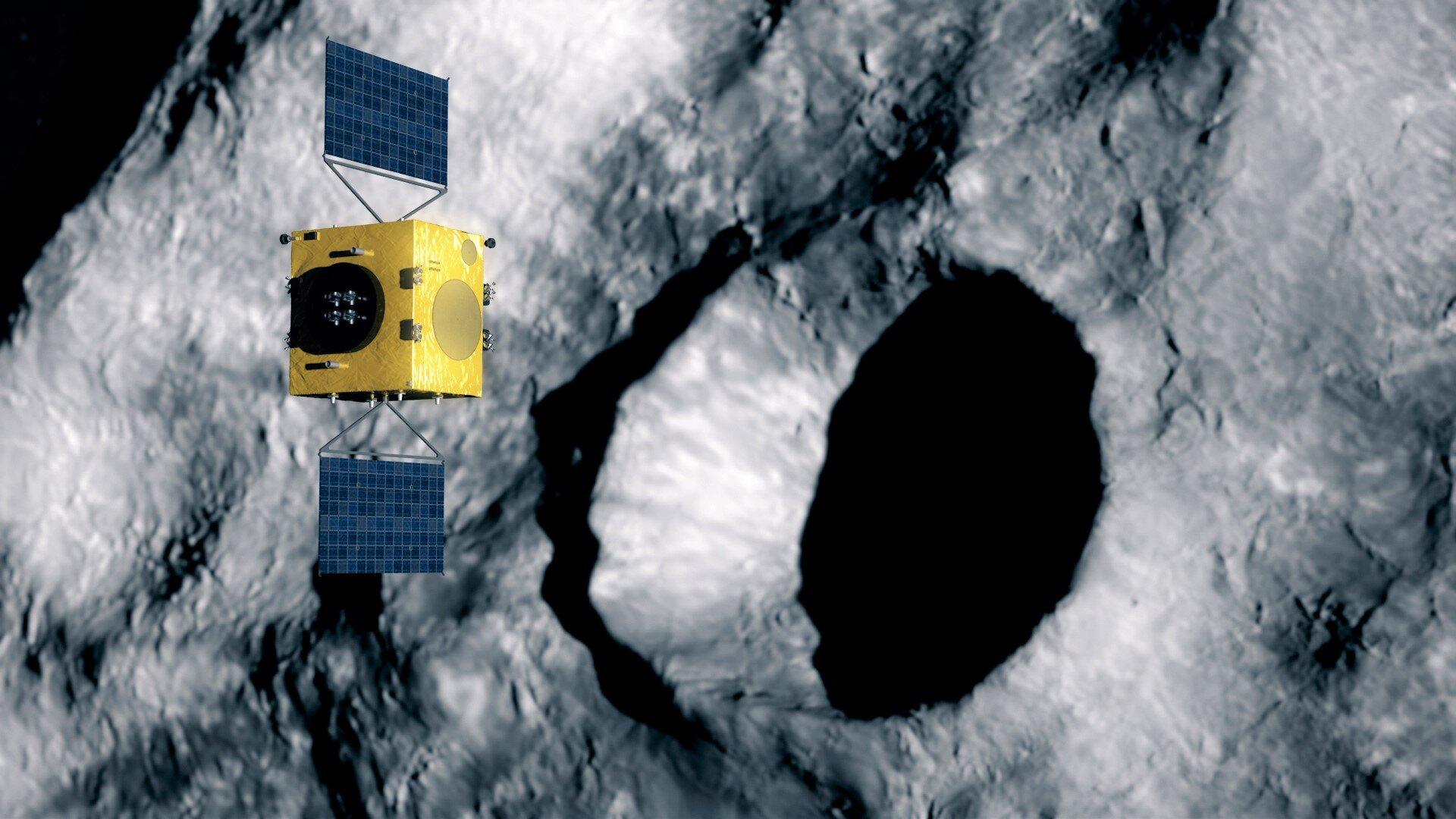 Hera scans DART's impact crater