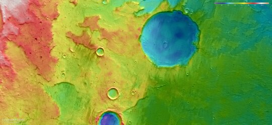 Topographic view of Terra Cimmeria