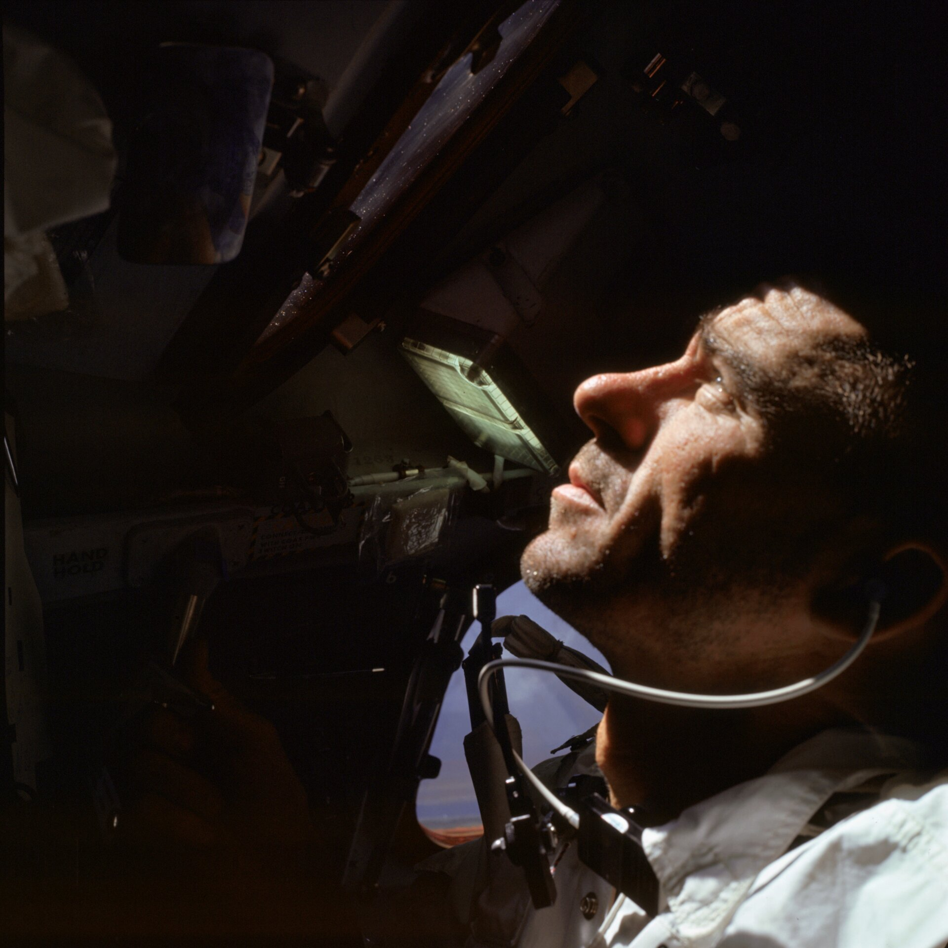 Walt Cunningham in de Apollo 7