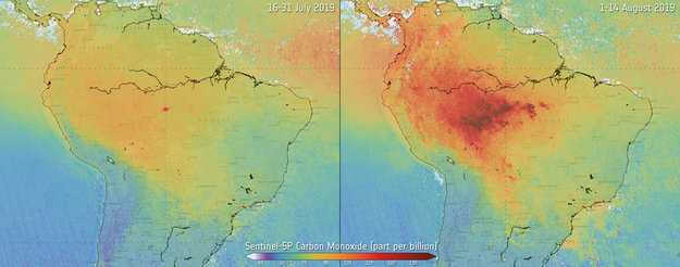 Monitoring air pollution from fires / Sentinel-5P ...