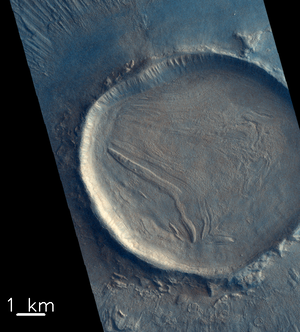 Crater fill