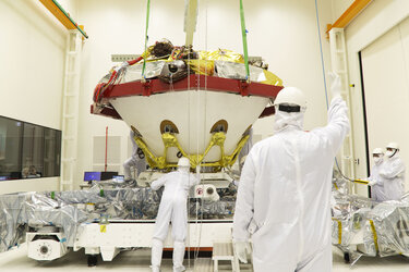 ExoMars descent module and lander platform