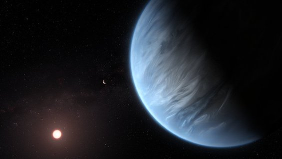 Hubble finds water vapor on habitable-zone exoplanet for the first time