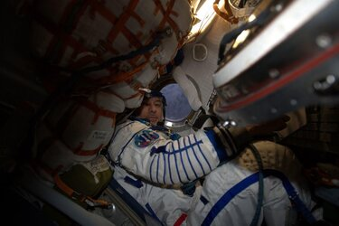 Luca during Soyuz redocking