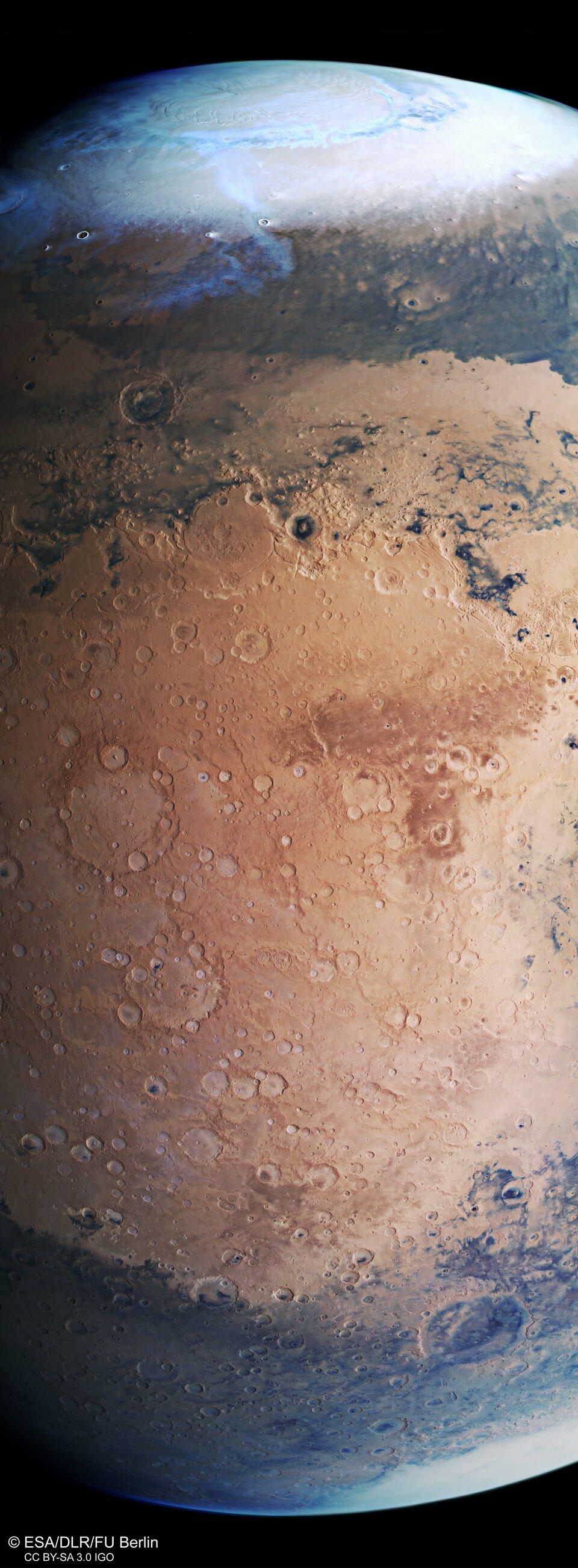 Mars Express vista di Terra Sabaea e Arabia Terra