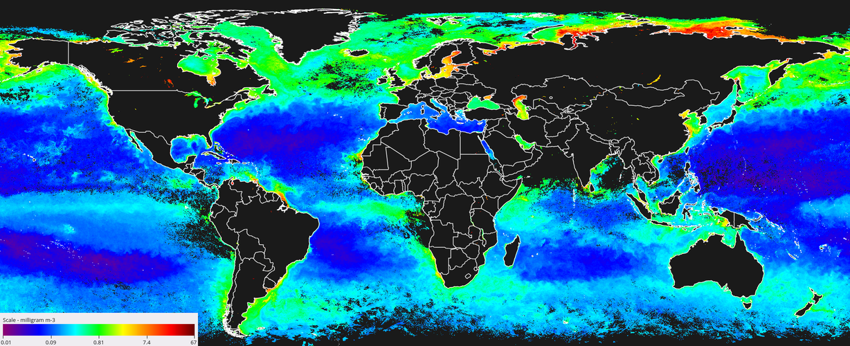 Neural networks help map ocean colour