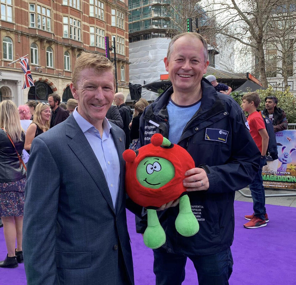 Paxi, Tim Peake and Dave Parker at Farmageddon premiere
