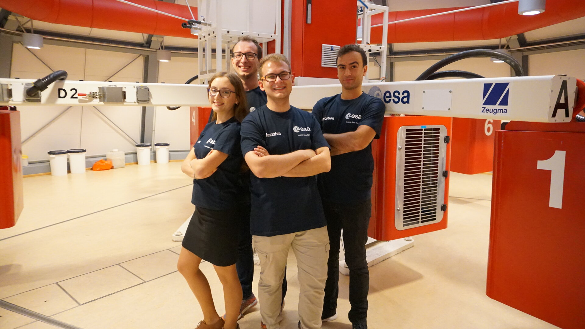 The complete HyperCells team with the Large Diameter Centrifuge