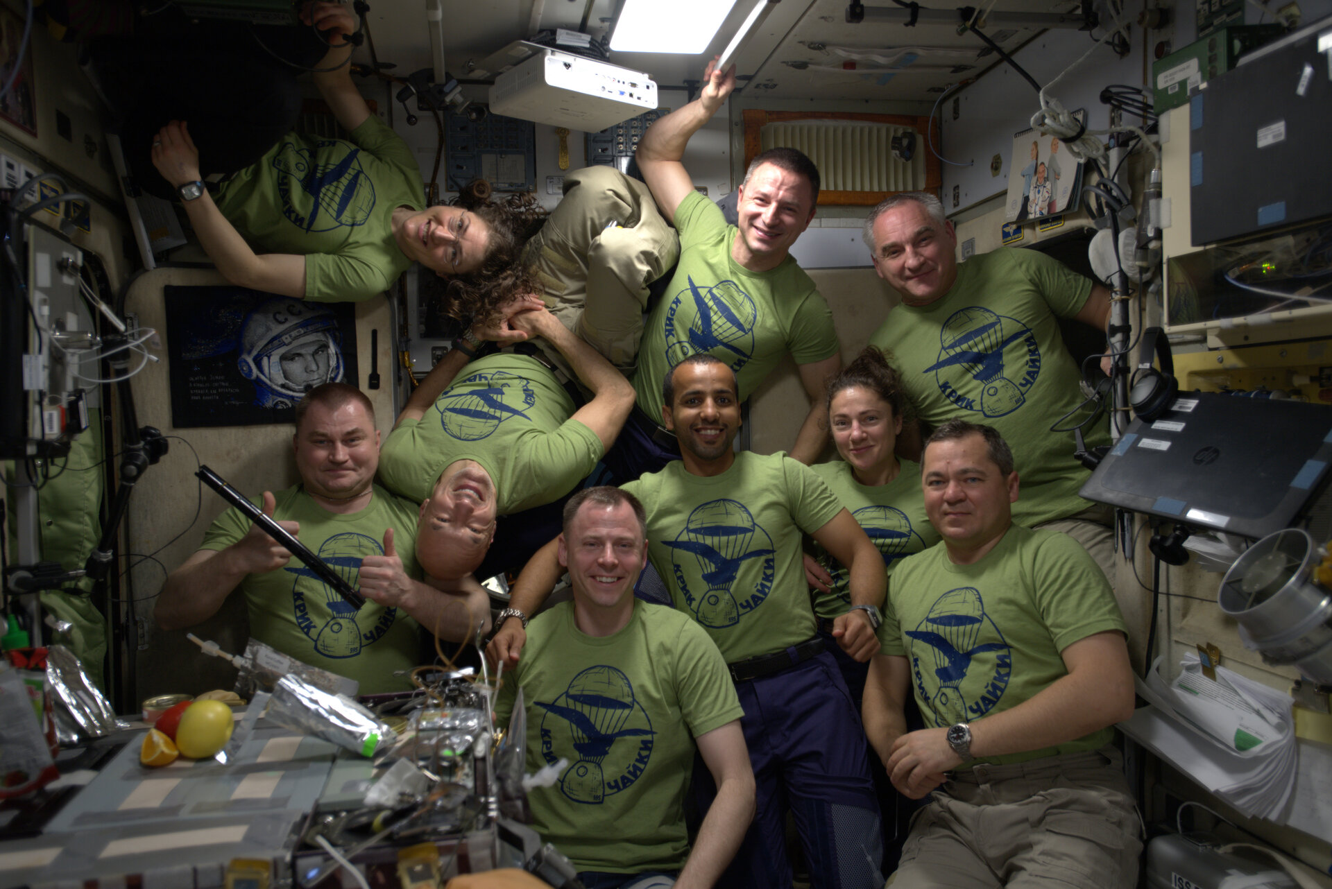 A flock of astronauts