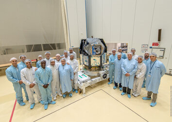 Cheops team in Kourou