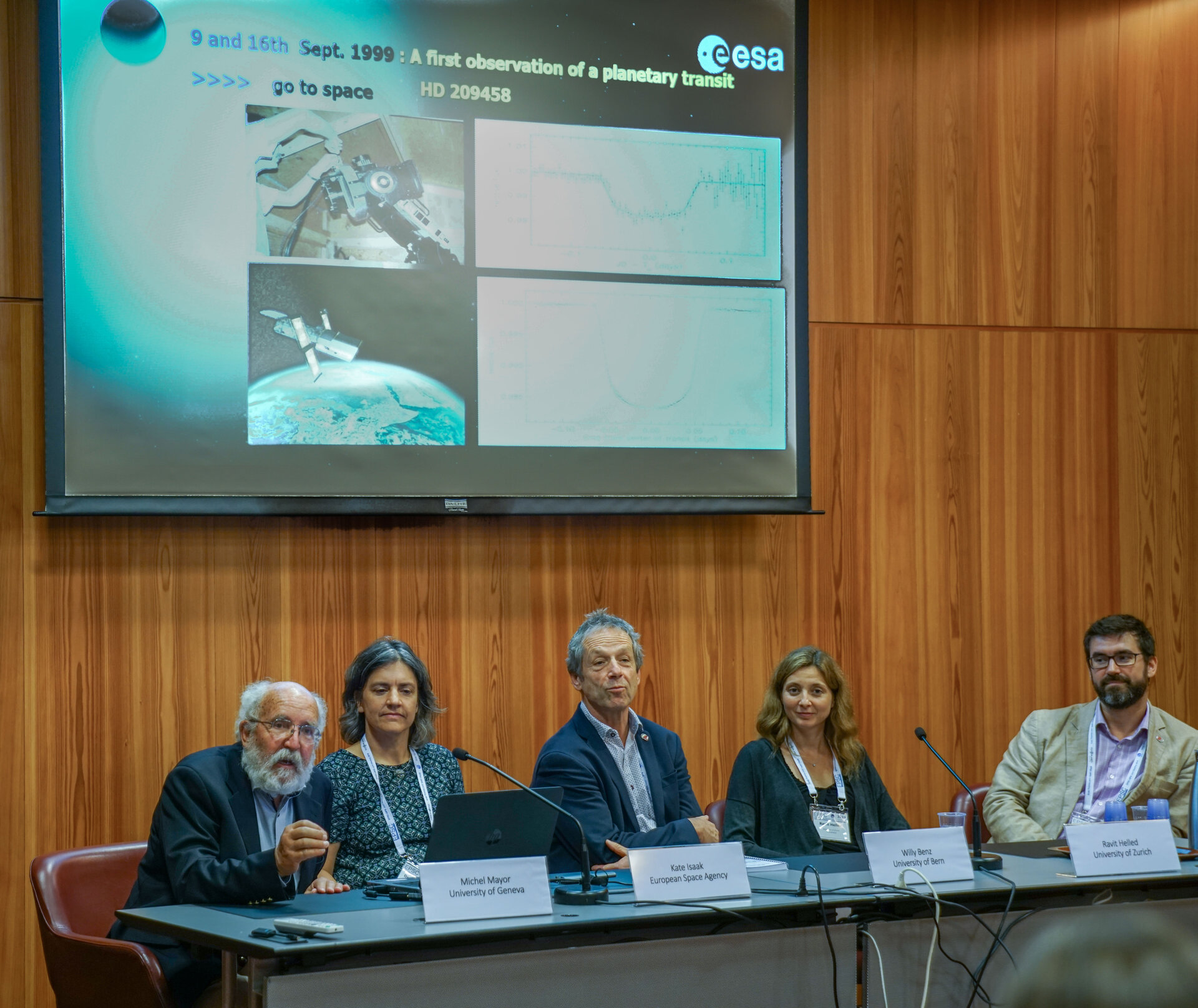 Exoplanet scientists at Cheops media briefing