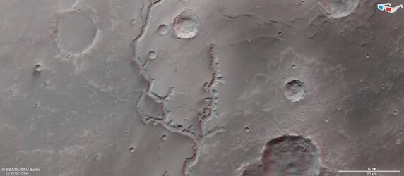 Nirgal Vallis in 3D