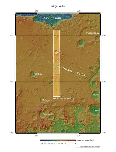 Nirgal Vallis in context