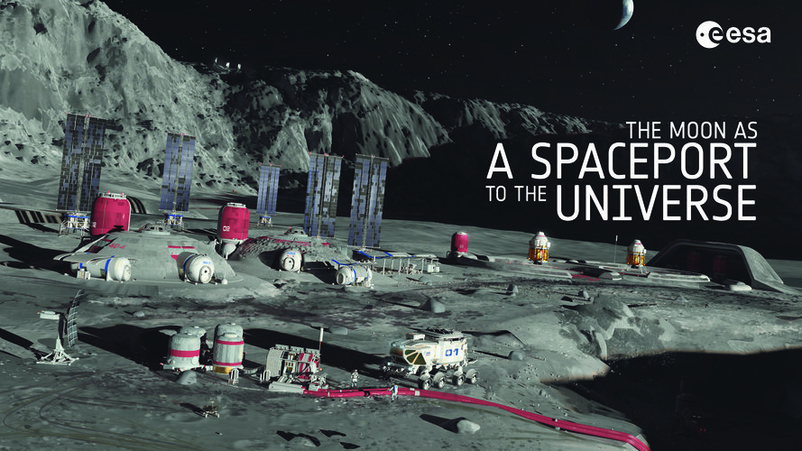The Moon as a spaceport to the Universe