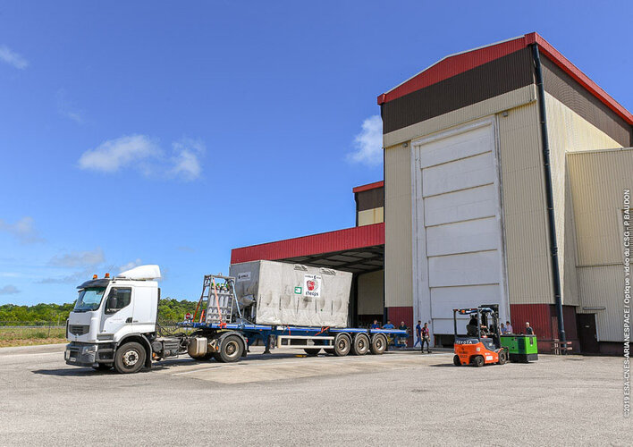 Cheops transport in Kourou