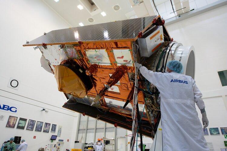 sea level monitoring satellite on show
