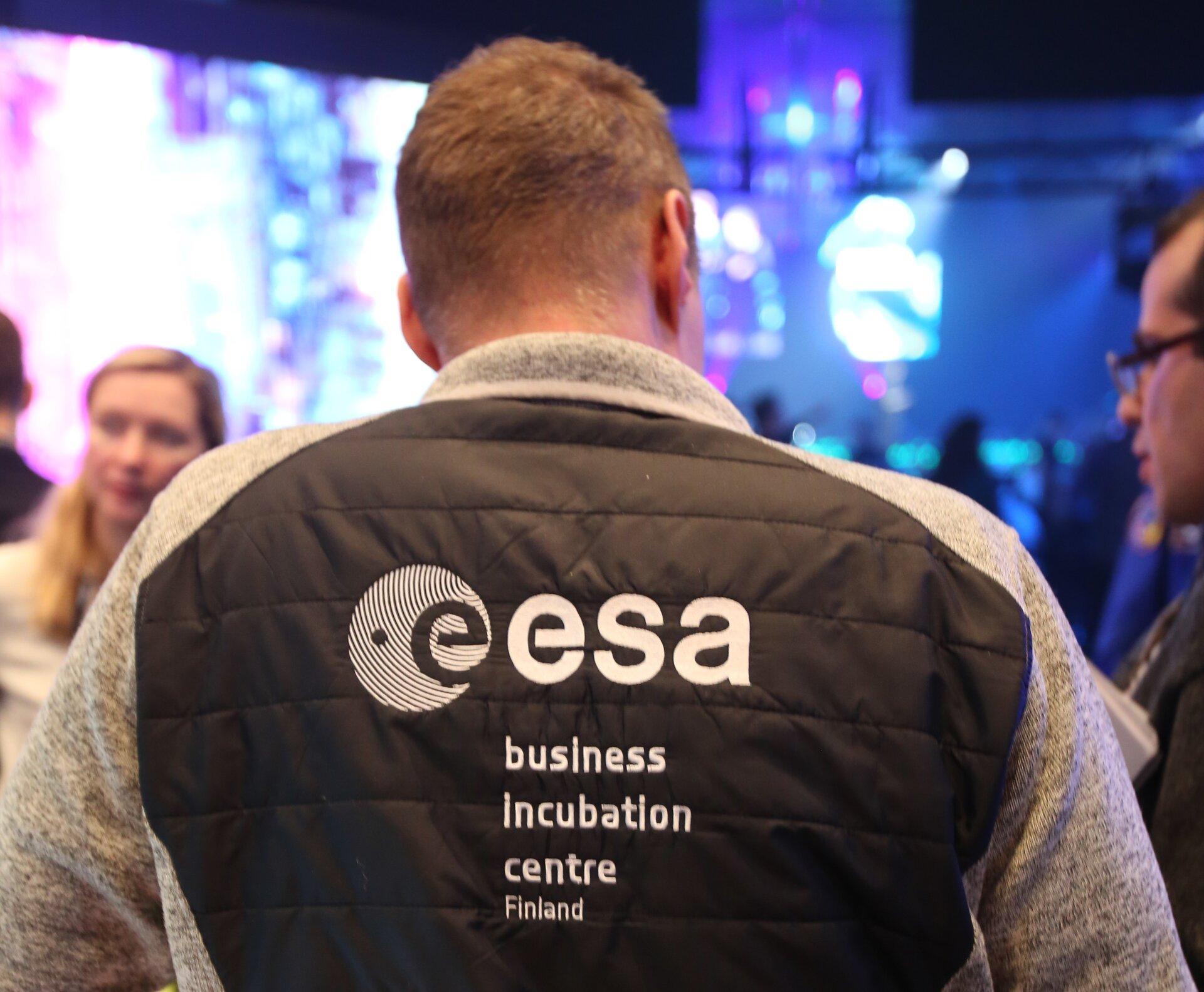 About a dozen companies based at ESA business incubation centres exhibited at the event