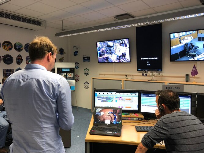 European Astronaut Centre control room during Analog-1
