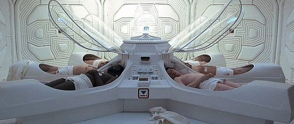 Hibernation pods in Alien movie