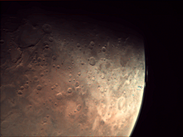 Image from VMC on-board Mars Express, acquired 17 Nov 2019, 3070 km above Mars