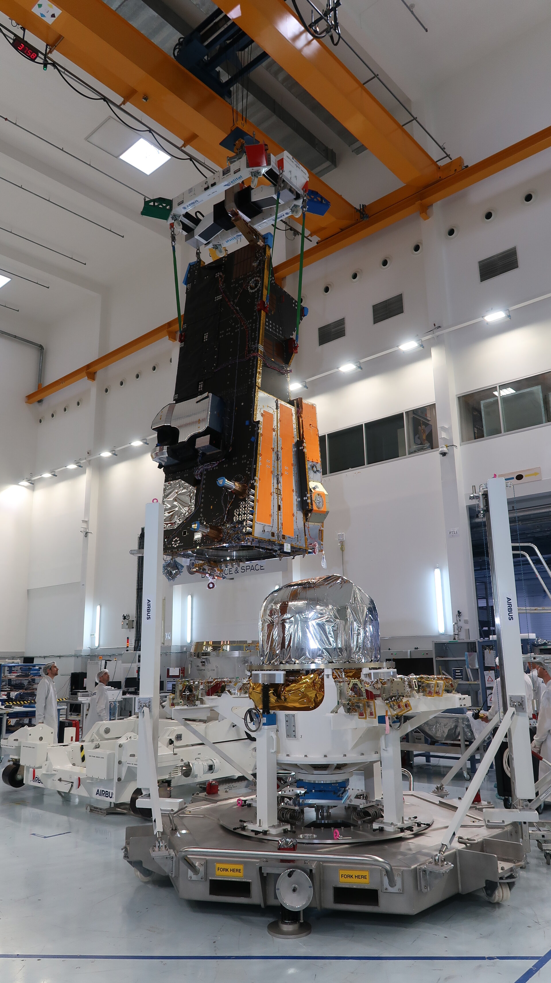 MetOp-SG mated with propulsion module